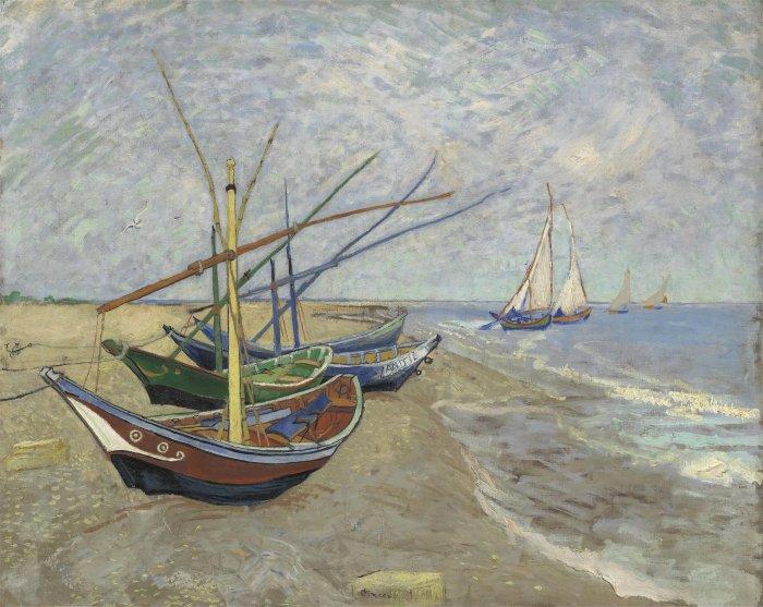 圣-玛利海滩的渔船